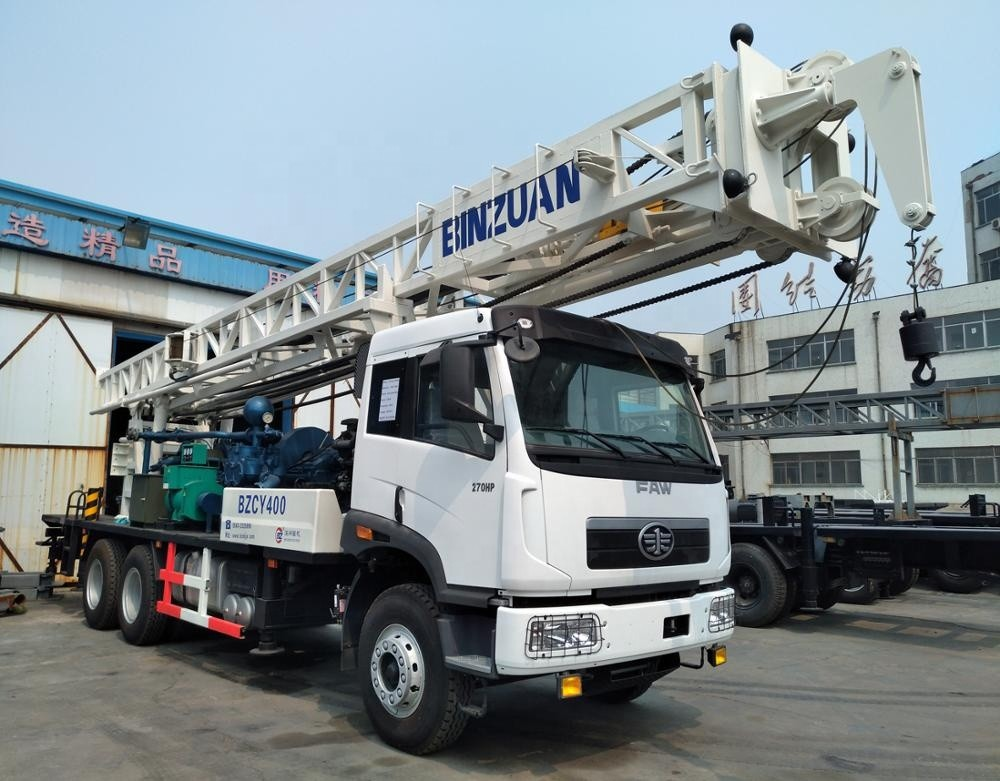 BZC400CHW Truck Mounted Water Well Drilling Machine 400m Drilling Depth Sinotruk Chassis