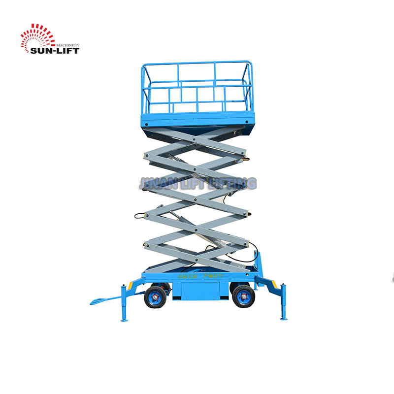 Vertical Electric Mobile Scissor Lift / Scaffolding Aerial Lift Work Platform