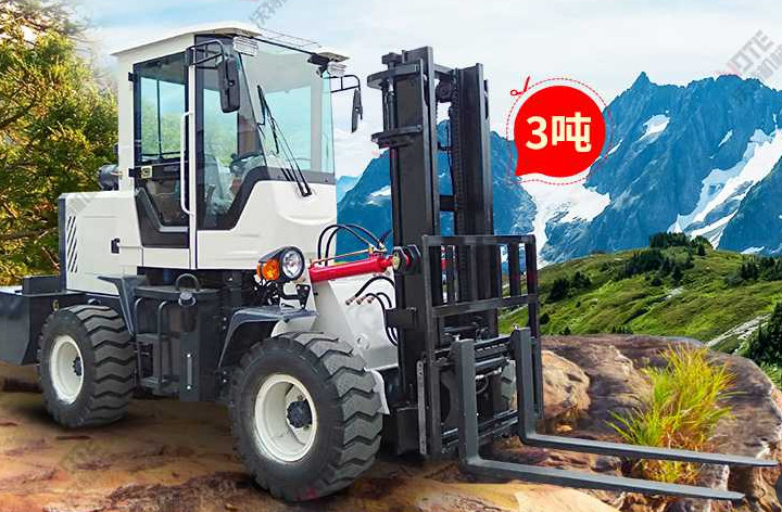 Small Port Handling Equipments  ,  4wd 3 To 5 Ton Off - Road Hydraulic Forklift Truck Diesel Machines